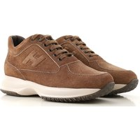 Hogan Sneakers for Men On Sale, Brown, Suede leather, 2019, 5 8.5