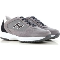 Hogan Sneakers for Men, Grey, Suede leather, 2017, 6 7.5 8 8.5 9