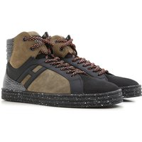 Hogan Sneakers for Men On Sale in Outlet, Black, Suede leather, 2017, 6 7.5 8 8.5 9