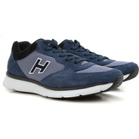 Hogan Sneakers for Men On Sale in Outlet, Bluette, Suede leather, 2017, 6 6.5 8
