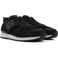 Hogan Sneakers for Men On Sale in Outlet, Black, Suede leather, 2017, 10 7