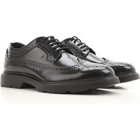 Hogan Lace Up Shoes for Men Oxfords, Derbies and Brogues On Sale, Polished Black, Leather, 2019, 11