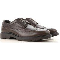 Hogan Zapatos Calados Brogue Baratos en Rebajas, Ebano, Piel, 2019, 42 43