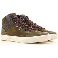 Hogan Sneakers for Men On Sale, Military Green, Suede leather, 2017, 10 7