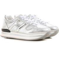 Hogan Zapatos para Niña Baratos en Rebajas, Plata, Piel, 2019, 32 33 35