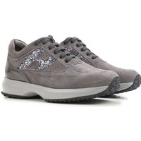 Hogan Kids Shoes for Girls On Sale, Grey, Suede leather, 2017, 29 32