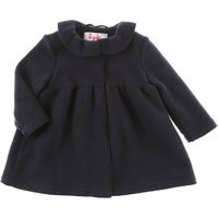 Il Gufo Baby Coats for Girls, navy, polyester, 2019, 12M 18M 2Y 6M 9M