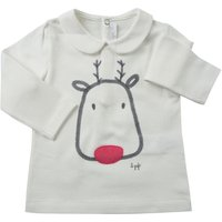 Il Gufo Baby T-Shirt for Girls On Sale, Cream, Cotton, 2019, 12M 18M 2Y 6M 9M