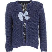Il Gufo Kids Sweaters for Girls, Blue Denim, Cotton, 2019, 10Y 6Y 8Y