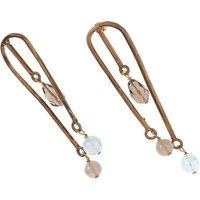 Iron By Miriam Nori Earrings for Women On Sale, Bronze, Bronze, 2021