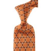 Isaia Ties On Sale, Persimmon Orange, Silk, 2021