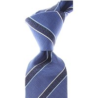 Isaia Ties On Sale, Blue Melange, Silk, 2021