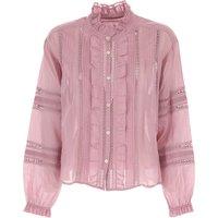 Isabel Marant Top for Women On Sale, Pink, Cotton, 2019, FR 36 aEURC/ IT 40 FR 38 aEURC/ IT 42