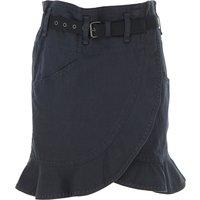 Isabel Marant Skirt for Women On Sale, Black, Cotton, 2019, FR 36 aEURC/ IT 40 FR 38 aEURC/ IT 42