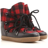 Isabel Marant Boots for Women, Booties On Sale, Red, Leather, 2019, 3.5 4.5 6.5