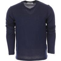 Jil Sander Sweater for Men Jumper On Sale, Blue Navy, Virgin wool, 2019, S XL