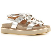 Janet & Janet Sandals for Women On Sale, Silver, Leather, 2019, 4.5 5.5 6.5 7.5