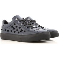 Jimmy Choo Sneakers for Men On Sale in Outlet, Dark Blue, Leather, 2019, 6.5 7 7.5 8 9 9.5