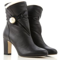 Jimmy Choo Boots for Women, Booties On Sale in Outlet, Black, Leather, 2019, 4 6