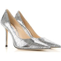 Jimmy Choo Pumps & High Heels for Women On Sale, Silver, Printed Leather, 2019, 4.5 6.5 7.5