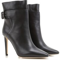 Jimmy Choo Boots for Women, Booties On Sale, Black, Leather, 2017, 3.5 4.5 5.5 6