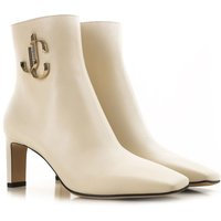 Jimmy Choo Boots for Women, Booties, Milk, Leather, 2019, 3.5 4.5