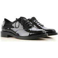 Jimmy Choo Lace Up Shoes for Men Oxfords, Derbies and Brogues, Black, Eco Patent Leather, 2019, 4.5