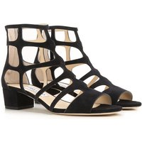 Jimmy Choo Sandals for Women On Sale in Outlet, Black, suede, 2017, 4.5 6