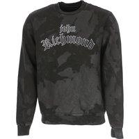 John Richmond Sweatshirt for Men On Sale, Black, polyester, 2019, L M S XL