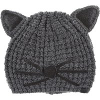 Karl Lagerfeld Hat for Women, Mouse Grey, Acrylic, 2019