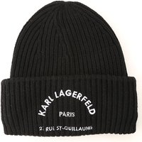 Karl Lagerfeld Hat for Women, Black, alpaca, 2019