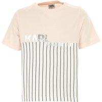 Karl Lagerfeld Kids T-Shirt for Girls On Sale, Pink, Cotton, 2019, 10Y 14Y 16Y 8Y