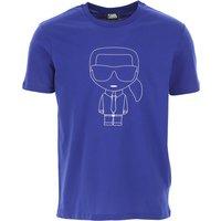 Karl Lagerfeld T-Shirt for Men On Sale, Bluette, Cotton, 2019, L S XL XXL