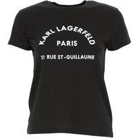 Karl Lagerfeld T-Shirt for Women, Black, Cotton, 2021, 10 14