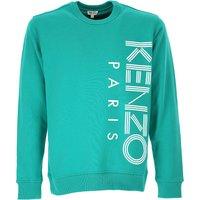 Kenzo Sweatshirt for Men, Mint Green, Cotton, 2019, L M S XL