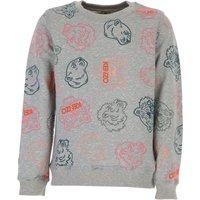 Kenzo Kids Sweatshirts & Hoodies for Girls On Sale, Grey, Cotton, 2019, 10Y 12Y 4Y 6Y 8Y
