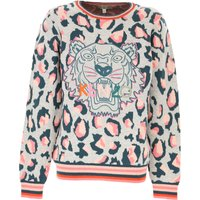 Kenzo Kids Sweaters for Girls On Sale, Grey, Cotton, 2019, 10Y 8Y