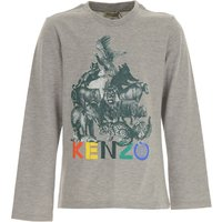 Kenzo Kids T-Shirt for Boys, Grey, Cotton, 2019, 10Y 12Y 14Y 8Y