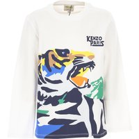 Kenzo Kids T-Shirt for Boys On Sale, White, Cotton, 2019, 12Y 8Y