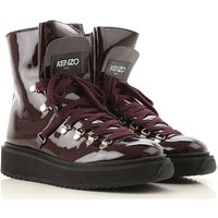 Kenzo Boots for Women, Booties On Sale, Bordeaux, Patent Leather, 2019, 3.5 4.5 5.5 6.5 7.5
