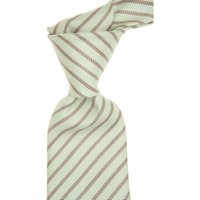 Kiton Ties On Sale, Pastel Light Green, Silk, 2019