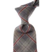 Kiton Ties On Sale, Gray Taupe Melange, Wool, 2019