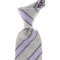 Kiton Ties On Sale, Ash Gray Melange, Wool, 2021