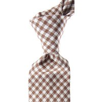 Kiton Ties On Sale, Brown, Silk, 2019