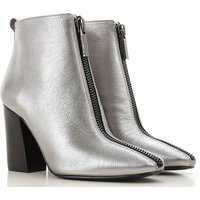 Kendall Kylie Boots for Women, Booties On Sale, Silver, Leather, 2019, 4 5.5 6 6.5