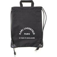 Karl Lagerfeld Backpack for Women On Sale, Black, polyamide, 2021