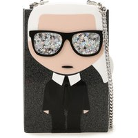 Karl Lagerfeld Clutch Bag, Multicolor, Acrylic, 2019