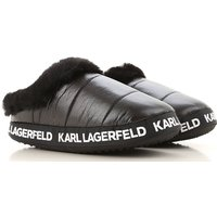 Karl Lagerfeld Sandals for Women On Sale, Black, Fabric, 2019, S (EU 36/37) M (EU 38/39)