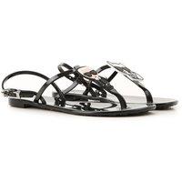 Karl Lagerfeld Sandals for Women On Sale, Black, PVC, 2019, 6 7