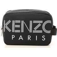 Kenzo Toiletry Bag for Men On Sale, Black, Nylon, 2019, one size one size